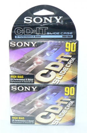 Sony CD-IT 90 Minute High Bias Cassette Tapes 2PK - FREE SHIPPING
