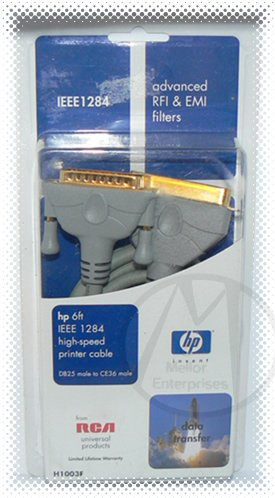HP 6ft IEEE 1284 High-speed Printer Cable H1003F DB25M - CE36M - NIP + FREE SHIPPING