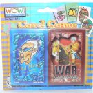 Wow Games! Old Maid & War Playing Card Games - NIP + FREE SHIPPING