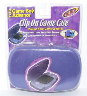 Intec Clip On Game Case for Game Boy Advance PURPLE #3335 - NIP + FREE SHIPPING