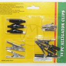 12 PC Black Alligator Clip Kit - NIP + FREE SHIPPING