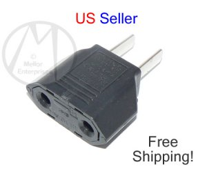 Travel Changer Adapter Plug Euro to US - NEW BULK + FREE SHIPPING
