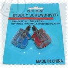 2 Piece Mini Stubby Screwdriver Set - NIP & FREE SHIPPING
