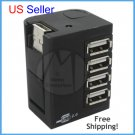 HIGH SPEED 4 PORT USB 2.0 CUBE HUB FOR PC LAPTOP MINI 4-PORT HUB + FREE SHIPPING!
