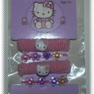 Hello Kitty - Pink Hair Pony Tail Holders Ponies - Set of 4 - NIP & FREE SHIPPING!