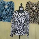 200814 Shana-K Ladies Knited Print Sweater