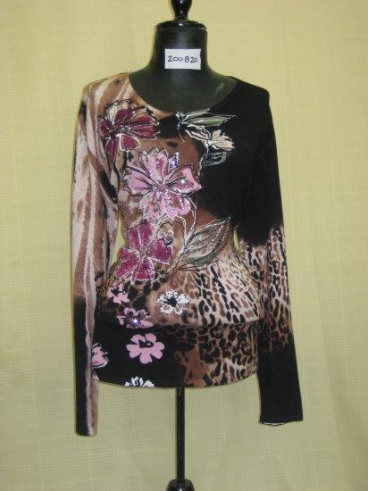 200820 Shana-K Ladies Knited Print Sweater