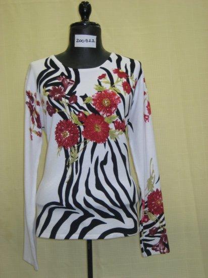 200822 Shana-K Ladies Knited Print Sweater
