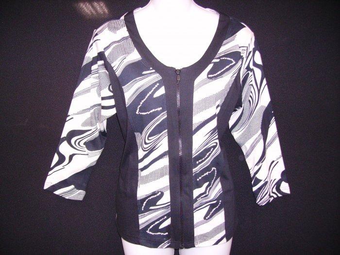 JKZ-21082 Shana K Wave Print  Jacket