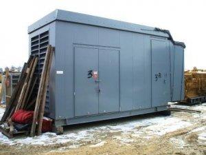 21 foot long outdoor walkin electrical enclosure
