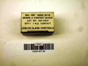 Joslyn Clark 100T-CB10 contact block NIB