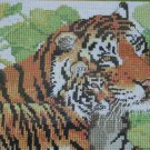 Tigers vintage counted cross stitch kit from Designs for the Needle very large kit 769