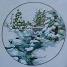 Winter Snowfall by Charlene Garrish vintage crewel embroidery kit from Sunset Designs 1109