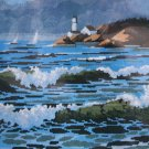 Emerald Sea by Roger W. Reinardy needlepoint kit vintage 1984 ocean lighthouse 1177
