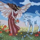 Mythical Meadow by Michael Hague vintage needlepoint kit fantasy fairy unicorn Unopened 1030