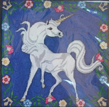 Unicorn with Floral border - Something Special vintage longstitch kit unicorn flowers Unopened 2022