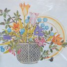 Tableau by Georgia Ball vintage crewel kit flowers floral basket Unopened 2250