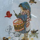 Little Drummer from the Brandywine art collection crewel kit snow sheep cardinal larks Unopened 1084
