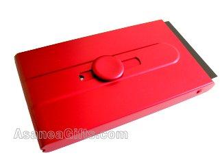 BUSINESS CARD CASE / BUSINESS CARD HOLDER - RED ECBCH-A2001
