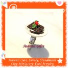HANDCRAFTED JEWELRY - MINI CHOCOLATE WAFFLE PLATE PENDANT RING ECMFJ-RG1006
