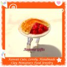 HANDMADE JEWELRY - WHOLE MINIATURE CHERRY PIE PENDANT RING ECMFJ-RG1004