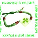 GLOW IN THE DARK FOUR LEAF CLOVER BRACELET ECFLC-NB5005