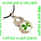 LUCKY 8 FOUR LEAF CLOVER NECKLACE ECFLC-SP1001