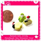 LOG CAKE SLICES - HANDMADE POLYMER CLAY FOOD FOR DOLLS HOUSE OR MINIATURISTS ECDMF-CC4007