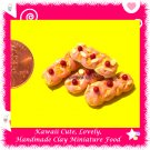 DOLLS STRAWBERRY PUFF PASTRY SET - CLAY FOOD FOR MINIATURISTS (ECDMF-CC1041)