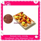 BERRY PASTRY TRAY - HANDMADE POLYMER CLAY FOOD FOR DOLLS HOUSE OR MINIATURISTS ECDMF-TR1006