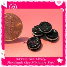 CHOCOLATE OREO COOKIES SET - HANDCRAFTED FOOD FOR DOLLS HOUSE OR MINIATURISTS ECDMF-CC2001