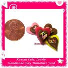 CHOCOLATE VALENTINE HEARTS SET - HANDCRAFTED FOOD FOR MINIATURISTS (ECDMF-CC4003)