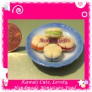 LARGE COOKIES PLATE SET - HANDCRAFTED FOOD FOR DOLLS HOUSE OR MINIATURISTS ECDMF-BK3005