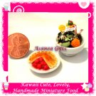 ICE CREAM CHERRY PIE SET - HANDMADE DOLLHOUSE MINIATURE FOOD FOR COLLECTORS ECDMF-IC1004