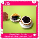 BERRY BLUEBERRY DESSERT SET - HANDCRAFTED DOLLHOUSE MINIATURE FOOD FOR COLLECTORS ECDMF-MP2003
