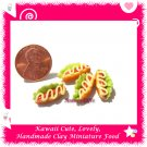 DOLLS HOUSE MINI CLAY HOT DOG BUNS SET OF 4 PCS (ECDMF-CC3011)