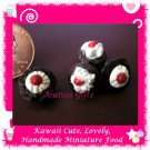 DOLLS HOUSE MINI MINIATURE CHOCOLATE CUPCAKES CHERRY ON TOP 4 (ECDMF-CC1006)