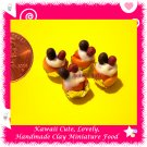 DOLLS MINI BREAD PASTRY - BERRY BERRY TARTS 4 PCS (ECDMF-CC103)