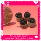 DOLLHOUSE MINIATURE CHOCOLATE MORNING MUFFINS 4 PCS (ECDMF-CC3001)