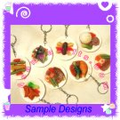 FOOD JEWELRY - CHINESE RICE PLATE PENDANT CHARM WITH FREE SHIPPING