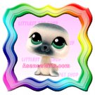 NEW ! LITTLEST PET SHOP AROUND THE WORLD LOOSE FIGURE - FUZZY SEAL # 399