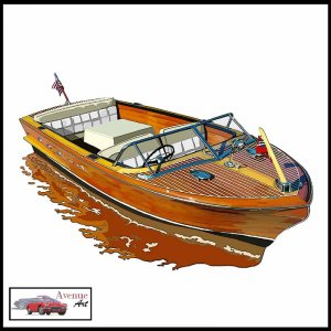 CHRIS CRAFT CONTINENTAL CANVAS ART PRINT