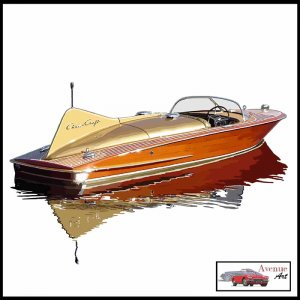 CHRIS CRAFT COBRA CANVAS ART PRINT