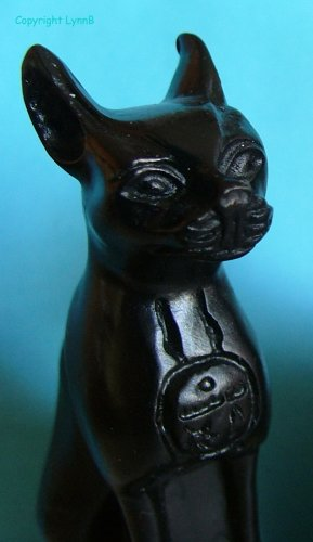 Bastet Black Cat Figure (Egyptian Goddess aka Bast)