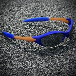 Half-frame   BLUE + BURNT ORANGE + BLUE