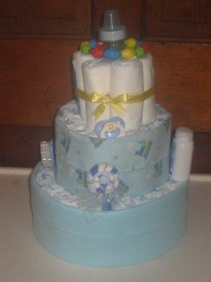 Train Diaper Cake