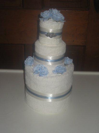 Blue / Angel Towel Cake