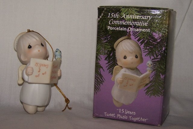 Precious Moments 15th Anniversary Angel Ornament 530840