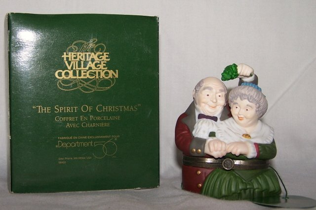 "Dept 56 ""The Spirit of Christmas"" Porcelain Hinged Box"