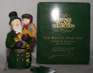 Dept 56 &quot;God Bless Us Every One&quot; Porcelain Hinged Box